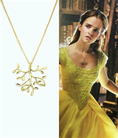 emma watson necklace emma watson belle beauty in the beast necklace belle tree