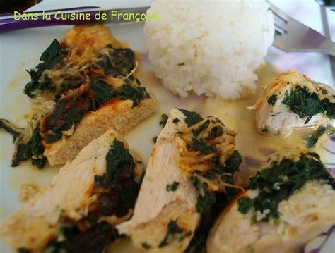 cuisine filet de poulet filet de poulet farcis aux 233 pinards et fromage dans la