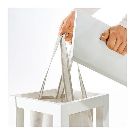 ikea standing l hj 196 lmaren laundry bag with stand white 35 l ikea