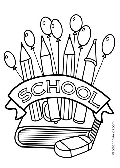 coloring pages free back to school coloring pages for