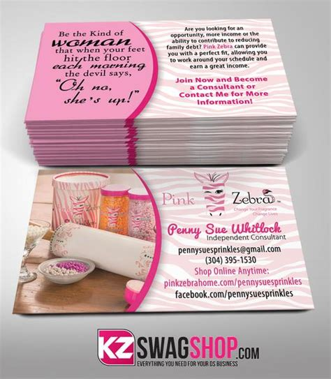 partylite business card template pink zebra business cards style 4 kz swag shop