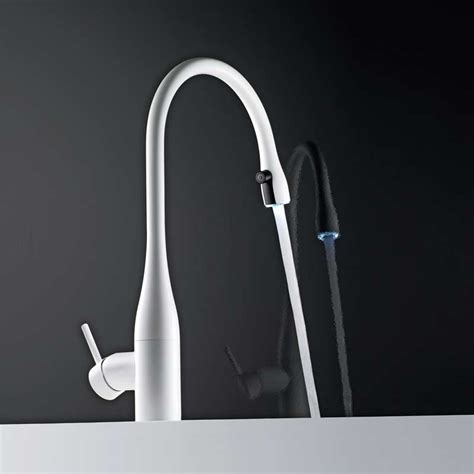 kwc 10 121 103 150 eve tall kitchen faucet glacier white buy eve light tap with pull out glacier white 10 121 103