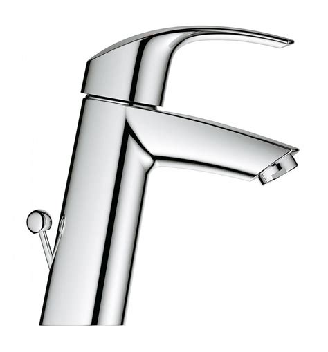 Wasser Basin Mixer With Pop Up Waste Medium Mba S1430m grohe eurosmart medium basin mixer tap with pop up waste
