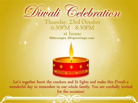 Diwali Invitation Card