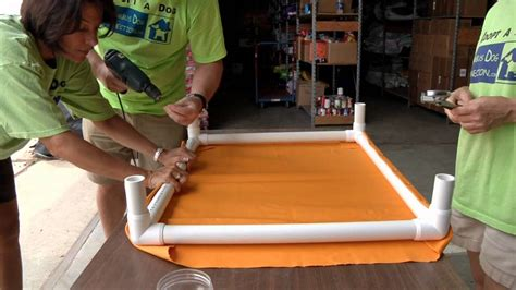 cheap n easy dog bed diy how to make an elevated dog bed youtube