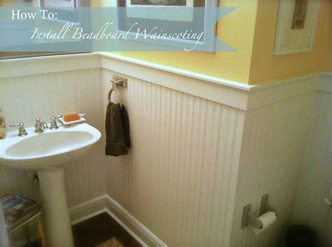 How To Install Wainscoting Bathroom how to install beadboard wainscoting like a pro the craftsman