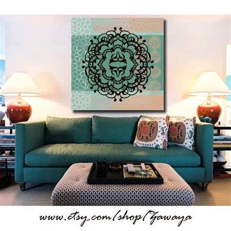 Home Decor Teal Teal Black Artwork Wall Decor Painting Canvas Home Decor Print Blue And Green Interior