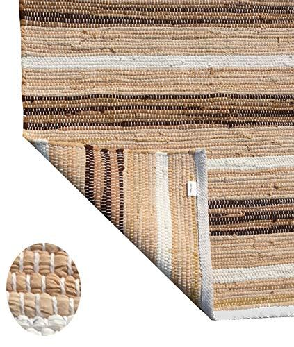 cotton multi chindi reversible rug  inches linen