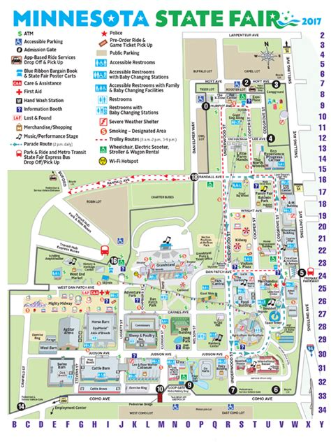 state fair texas map minnesota state fair maps and directions