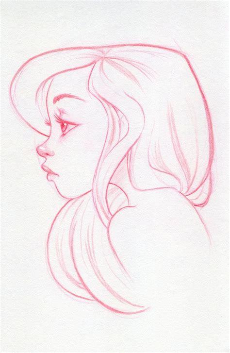 blue sketch gorgeous ariel profile outlines