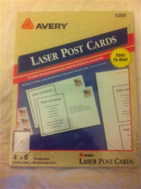 Avery 5389 Postcard Template Bing Images Avery Laser Postcards 5389 Template