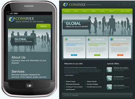 mobile site design template how to create a mobile phone friendly website design