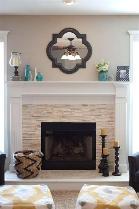 vintage wall mirror  stone fireplace designs