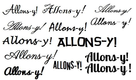 allons y tattoo allons y 4th on left side random d