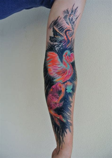 creative watercolor tattoo by ondrash design of