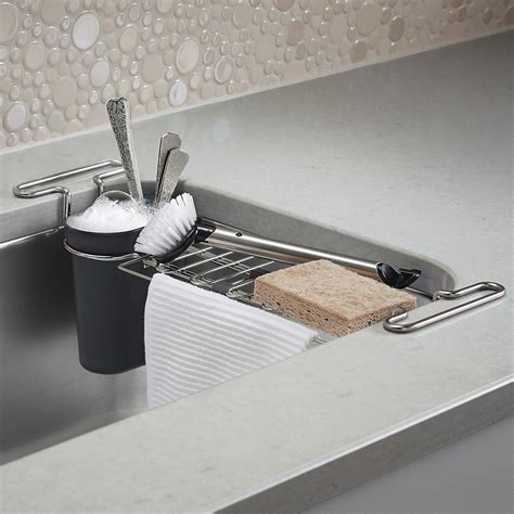 The Sink by Kohler Chrome Kitchen Sink Utility Rack The Container Store