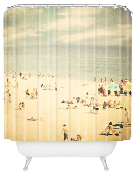 beach inspired shower curtains shannon clark vintage beach shower curtain beach style