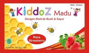 Madu Anak Kamil Rasa Strawberry madu kiddoz strawberry sido jodo