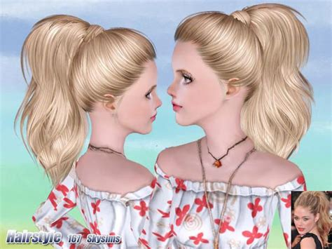 sims 3 hair cc wrapped ponytail hair 167 by skysims sims 3 downloads cc
