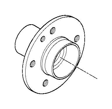 bmw 328i drive flange hub. wheel, bearings, suspension