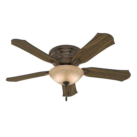 hunter flush mount ceiling fans hunter viente 52 in indoor roman bronze flushmount