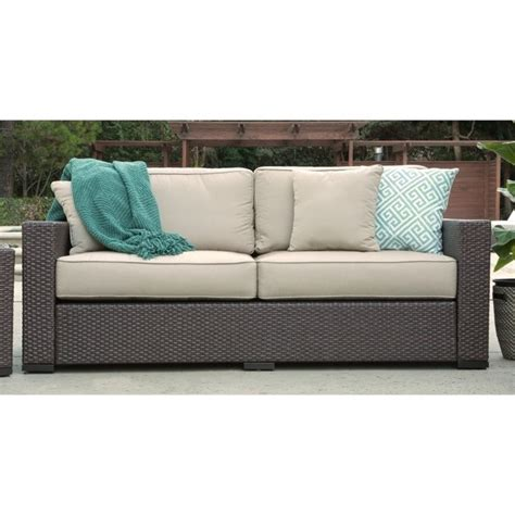 Serta At Home Sterling Falls Wicker Outdoor Sofa In Beige Sterling Outdoor Furniture
