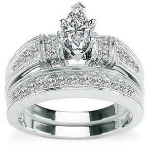 wedding ring sets walmart 5 8 carat marquise 14kt gold bridal set size 7