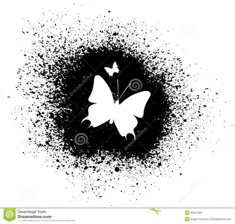 butterfly silhouette royalty free stock photo image