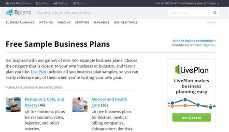 Bplans Business Planning Software And Free Business Plan Html Autos Weblog Web Based Business Plan Template