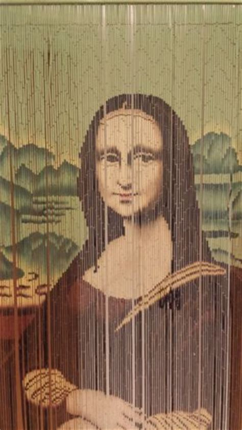 mona lisa beaded curtain mona lisa wooden bead door curtain wall hanging