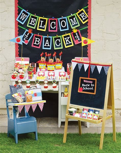 school theme decorations back to school ideas free printables hostess