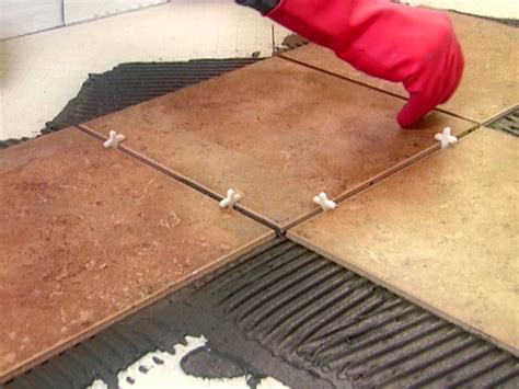 How To Install Tile Floor by Installing Diagonal Tiles How Tos Diy