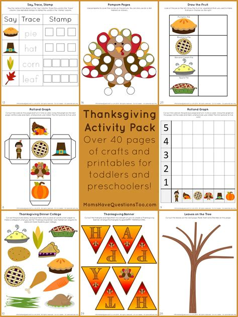 craft printables for thanksgiving activity pack with crafts and printables