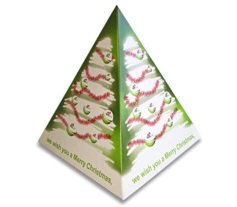complex pyramid tree pop up card template pop up pyramid for promotional marketing caigns