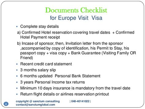 Guarantee Letter For Visitor Visa Europe Visit Visa Sanctum Consulting