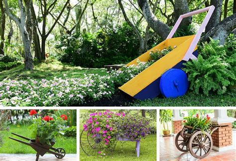 wheelbarrow garden ideas 27 wheelbarrow flower planter ideas for your yard