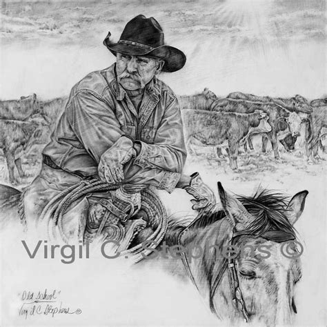 Drawing W Pencil by Cowboy Pencil Pencil Drawing Western Of A Cowboy At