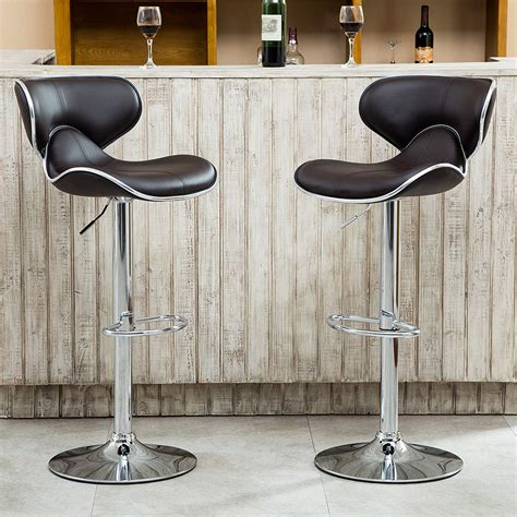 Contemporary Swivel Adjustable Bar Stool With Arm Rests by 12 Best Modern Swivel Bar Stools With Back Adjustable