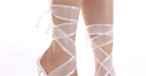 Brandi Silver Block Heels silver high heels with ribbon wrap straps white wrap