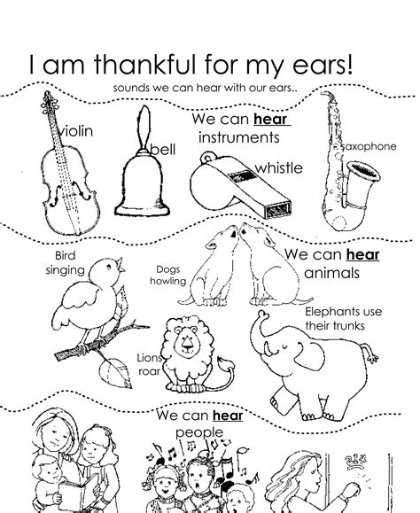i am thankful for my ears lds lesson ideas