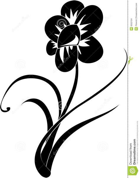 fiori stilizzati in bianco e nero fiore in bianco e nero illustrazione di stock