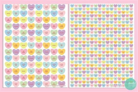 printable wrapping paper hearts free printable candy heart gift wraps tags minted