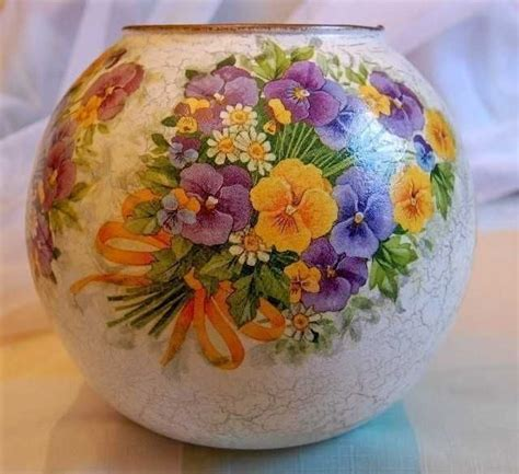 Decoupage Vase Ideas - 280 best images about decupage liony butelki szk蛯o on