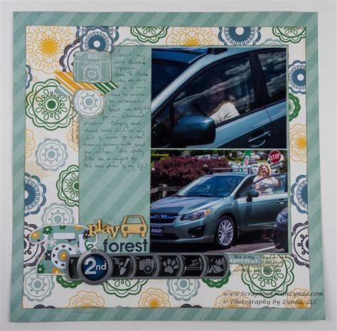 scrapbook layout new car memorabilia on a scrapbook layout scrapbook with lynda