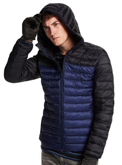 Scotch And Soda Quilted Jacket by Scotch Soda Quilted Hooded Jacket Blue Black
