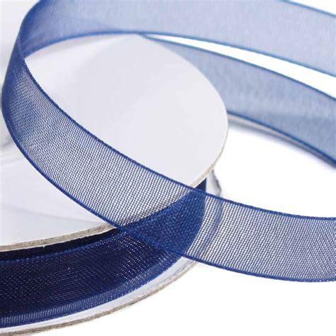 """3/8"""" Navy Blue Organza Ribbon   Ribbon and Trims   Craft"""