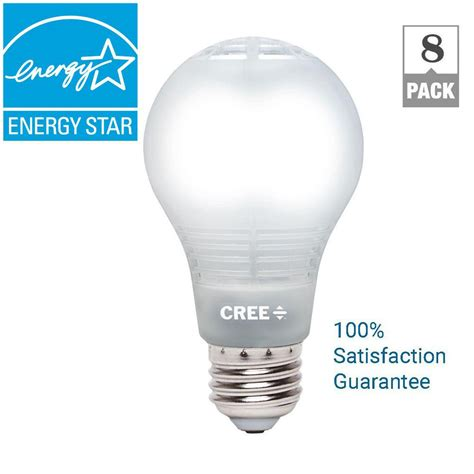 Cree Dimmable Led Light Bulbs Cree 60w Equivalent Daylight A19 Dimmable Led Light Bulb With 4flow Filament Design 8 Pack