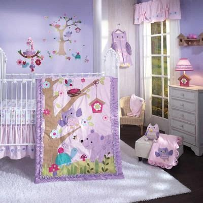 woodland themed nursery bedding lavender forest animals infant baby girl 7p nursery crib