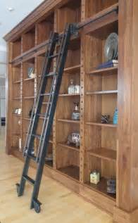 Bookshelves With Rolling Ladder Custom Steel Rolling Library Ladder By Andrew Stansell
