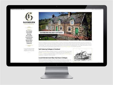 cottage websites new cottages website design gavinburn cottages